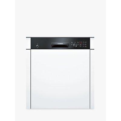 Bosch SMI50C16GB Semi-Integrated Dishwasher, Black