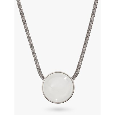 Skagen Sea Glass Round Pendant Necklace  Silver White SKJ0080040 - 4051432915055