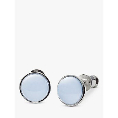 Skagen Sea Glass Round Stud Earrings  Silver Pale Blue SKJ0820040 - 4053858622401