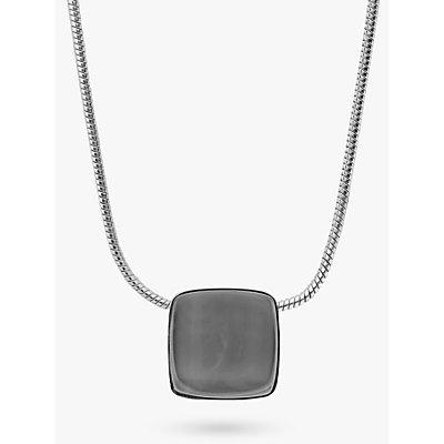 Skagen Sea Glass Square Pendant Necklace  Silver Steel Blue SKJ0868040 - 4053858711198