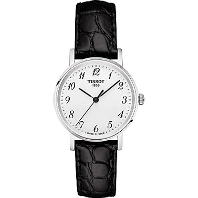 Tissot T1092101603200 Women s Everytime Leather Strap Watch  Black - 7611608277867