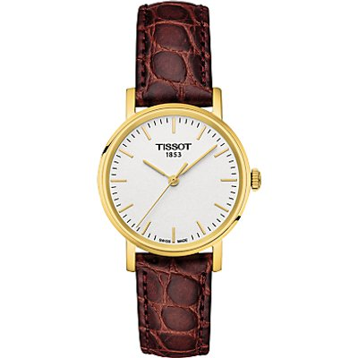 Tissot T1092103603100 Women s Everytime Leather Strap Watch  Brown White - 7611608277874