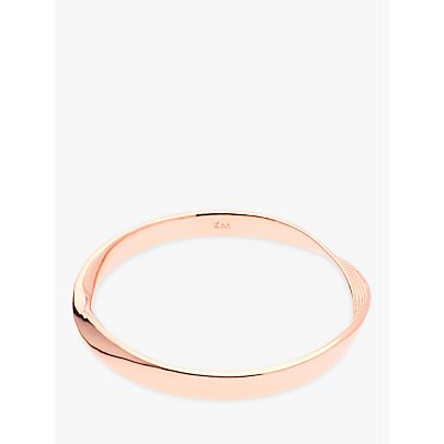 Karen Millen Textured Twist Narrow Bangle - 5055336323618