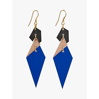 Toolally Abstract Diamond Shaped Drop Earrings  Sapphire Multi - 5060491141106