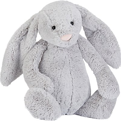 Jellycat Bashful Bunny Soft Toy, Really Big, Silver