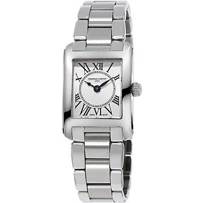 Fr  d  rique Constant FC 200MC16B Women s Classics Carree Bracelet Strap Watch  Silver - 7688200259034