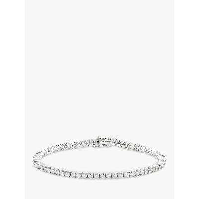 Diamond Collection 18ct White Gold Diamond Tennis Bracelet  2ct - 5055258099738