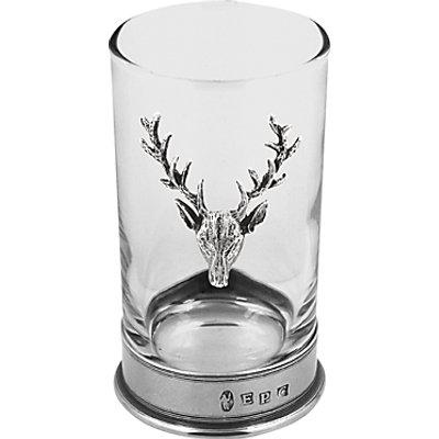English Pewter Company Stag Highball Spirit Glass 5060400676262