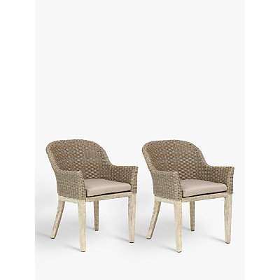 KETTLER Cora Round Back Outdoor Dining Chair  FSC Certified  Acacia   Set of 2  Whitewash - 9333472114076