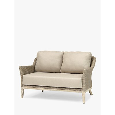 KETTLER Cora Lounging 2 Seater Sofa, FSC-Certified (Acacia), Smoke White
