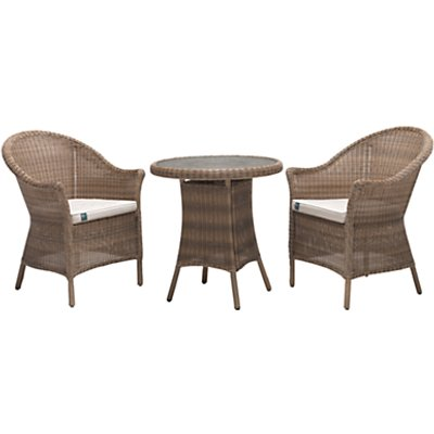 KETTLER RHS Harlow Carr Garden Bistro Table and Chairs Set  Natural - 5015404123311
