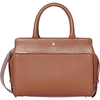 Modalu Berkeley Leather Small Grab Bag  Tan - 5050545640594