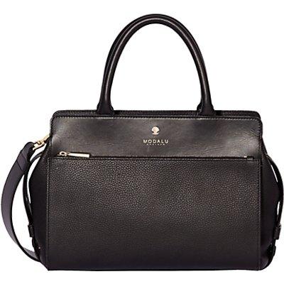 Modalu Berkeley Leather Small Grab Bag  Black - 5050545640600