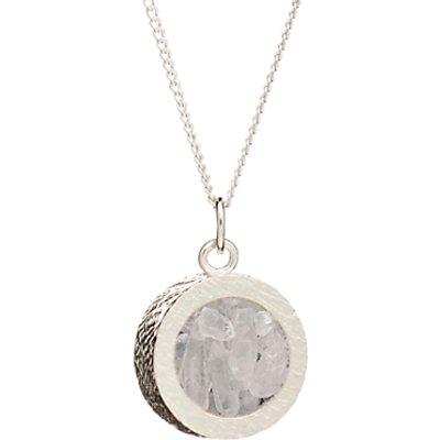 Rachel Jackson London Sterling Silver Round Birthstone Pendant Necklace - 5060508130918