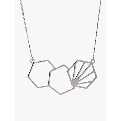 Rachel Jackson London 3 Hexagon Necklace - 5060508130055