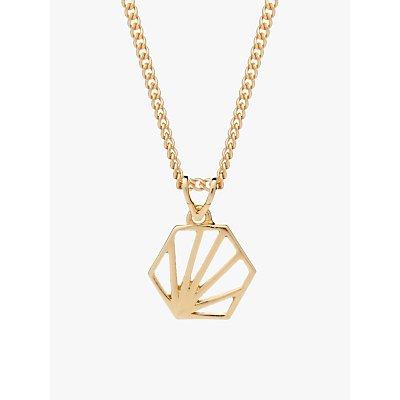 Rachel Jackson London Small Hexagon Pendant Necklace - 5060508130024