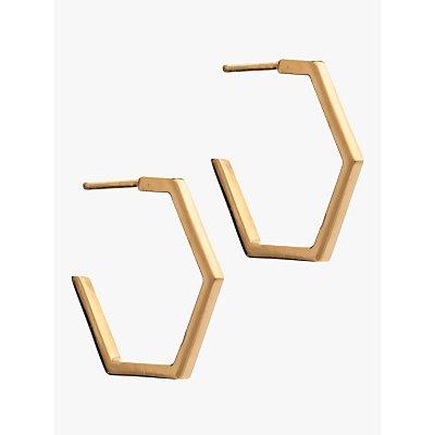 Rachel Jackson London Medium Hexagon Hoop Earrings - 5060508130208