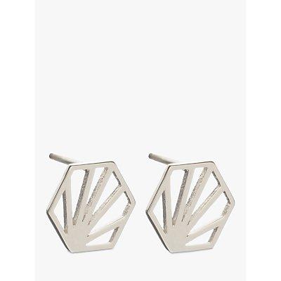Rachel Jackson London Small Hexagon Stud Earrings - 5060508130116