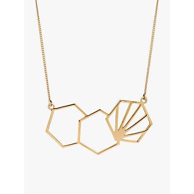 Rachel Jackson London 3 Hexagon Necklace - 5060508130048