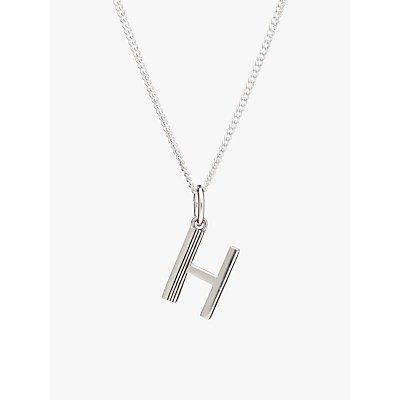 Rachel Jackson London Sterling Silver Initial Pendant Necklace - 5060508130413