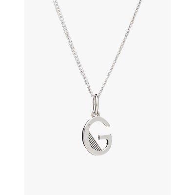 Rachel Jackson London Sterling Silver Initial Pendant Necklace - 5060508130406