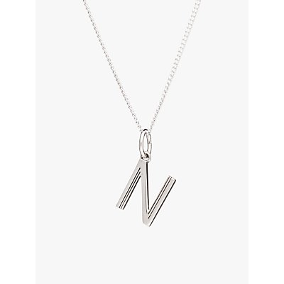 Rachel Jackson London Sterling Silver Initial Pendant Necklace - 5060508130475