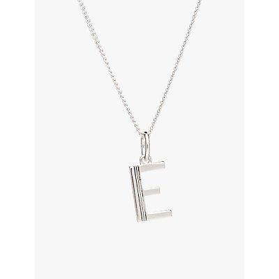 Rachel Jackson London Sterling Silver Initial Pendant Necklace - 5060508130383
