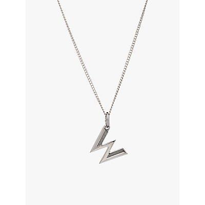 Rachel Jackson London Sterling Silver Initial Pendant Necklace - 5060508130567