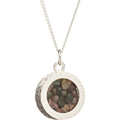 Rachel Jackson London Sterling Silver Round Birthstone Pendant Necklace - 5060508130970