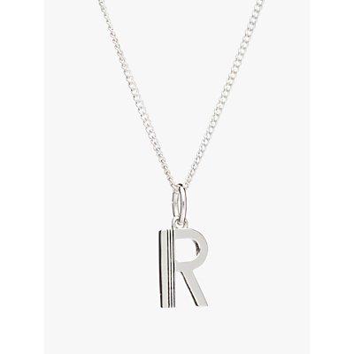 Rachel Jackson London Sterling Silver Initial Pendant Necklace - 5060508130512