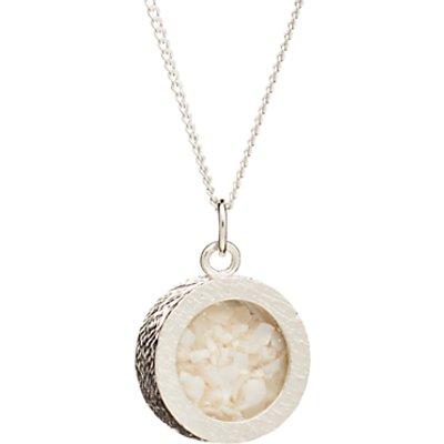 Rachel Jackson London Sterling Silver Round Birthstone Pendant Necklace - 5060508130932