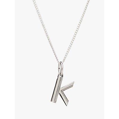 Rachel Jackson London Sterling Silver Initial Pendant Necklace - 5060508130444