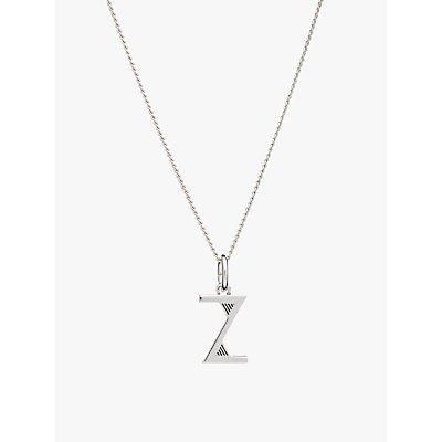 Rachel Jackson London Sterling Silver Initial Pendant Necklace - 5060508130598