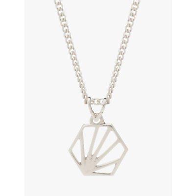 Rachel Jackson London Small Hexagon Pendant Necklace - 5060508130031