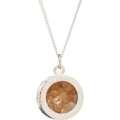 Rachel Jackson London Sterling Silver Round Birthstone Pendant Necklace - 5060508130987