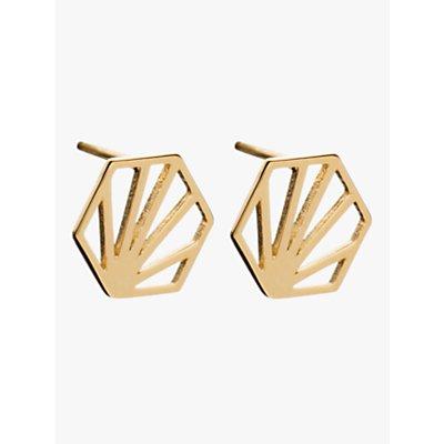 Rachel Jackson London Small Hexagon Stud Earrings - 5060508130109