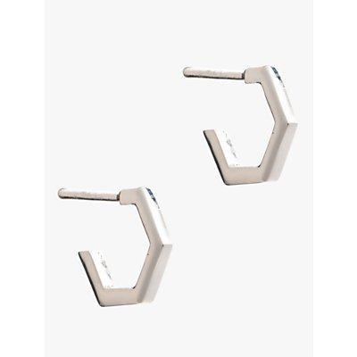Rachel Jackson London Small Hexagon Hoop Earrings - 5060508130192