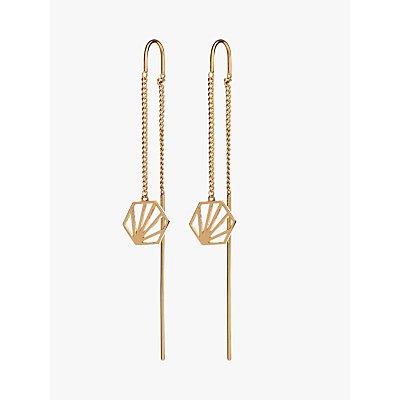 Rachel Jackson London Hexagon Chain Drop Earrings - 5060508130123