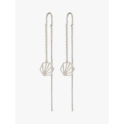 Rachel Jackson London Hexagon Chain Drop Earrings - 5060508130130
