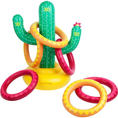 Sunnylife Inflatable Cactus Hoopla Game