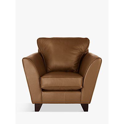 John Lewis Oslo Leather Armchair, Dark Leg