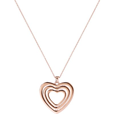 Ted Baker Helinna Swarovski Crystal Spinning Heart Pendant Necklace  Rose Gold - 5055336328101