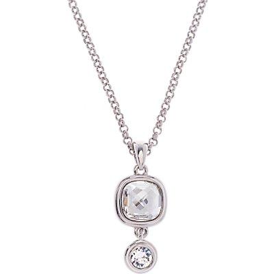 Karen Millen Milano Swarovski Crystal Double Pendant Necklace 5055336330814