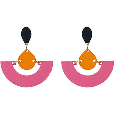 Toolally Fan Colour Block Drop Earrings - 5060491141496
