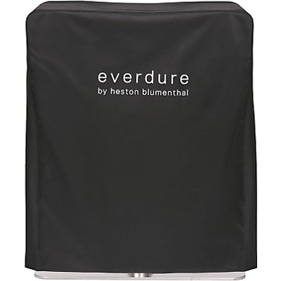 "everdure by heston blumenthal FUSIONâ""¢ Electric Ignition Charcoal BBQ Cover, Black"