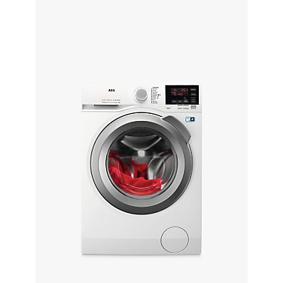 AEG L6FBG842R Freestanding Washing Machine, 8kg Load, A+++ Energy Rating, 1400rpm Spin, White