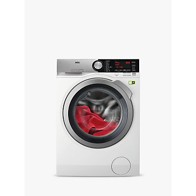 AEG ProSteam Technology L9FEC966R Freestanding Washing Machine, 9kg Load, A+++ Energy Rating, 1600rpm Spin, White