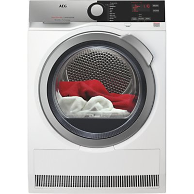 AEG T7DEE835R Heat Pump Tumble Dryer, 8kg Load, A+ Energy Rating, White
