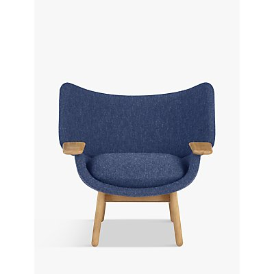 Doshi Levien for John Lewis Open Home Mudra Low Back Armchair, Oak Leg