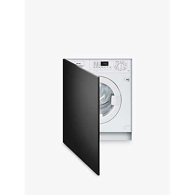 Smeg WMI147-2 Slimline Integrated Washing Machine, 7kg Load, A++ Energy Rating, 1400rpm Spin, White